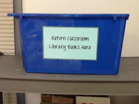 Classroom Library Return